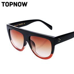 Wholesale Lunettes Cat Eyes - Wholesale-New Flat Top Mirror Sunglasses Woman Brand Design Vintage Colorful Cat Eye Sun Glasses For Women Lunettes Gafas Oculos Feminino