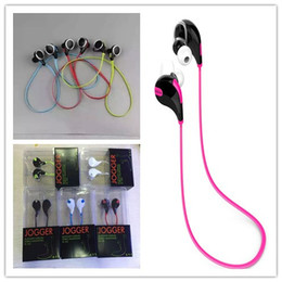 Wholesale Sports Cell Phones - QY-7 Bluetooth Wireless Headset Stereo Sport Running Headphone For iPhone 7 Samsung S8 Plus All Phones