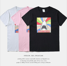 Nueva llegada High street primavera y verano sudor sueña popular mens clothing Moda impresión algodón mens manga corta camisetas desde fabricantes