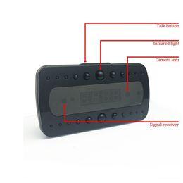 Wholesale Vision Sounds - HD 1080p Black Pearl RF Night Vision Alarm Mini Gadget DVR Clock Motion Detection Video Sound Recording Hidden Micro Clock Camera