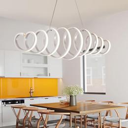 Wholesale G4 Led Fast - Fast Shipping Minimalism Modern Led Pendant Lights For Dining Room Bar Kitchen Aluminum Acrylic Hanging Led Pendant Lamp Fixture