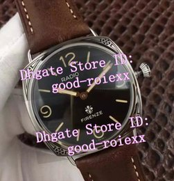 Wholesale Watch Buckle Pins - Top AAA Men's Mechanical Stainless Steel Acciaio Pam Firenze Watch Men Retro Pam604 Calf Leather Watches Mens Classic 604 Dive Wristwatches