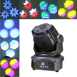 Wholesale Moving Head Gobo - 2Pcs Lot 60W LED Moving Head lights Gobo Lighting 14 channels Spot Light 3-Prism Christmas Projector DJ Party Event Show stage lights