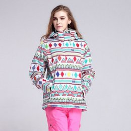 Wholesale Orange Snowboarding Jackets - Wholesale- Free shipping waterproof ski suits women ski jacket warm winter outdoor warm woman snowboarding jackets and coats