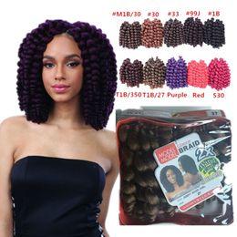 Wholesale Freetress Hair - Freetress Wand curly crochet hair Bouncy twist crochet braid Bounce twist 10 inch braids Havana Mambo Twist crochet hair extension