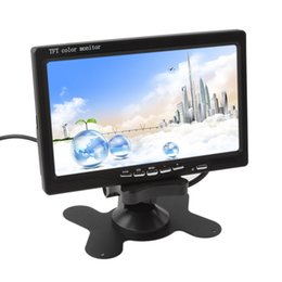 Wholesale Video Headrest - 7 Inch TFT LCD Color 2 Video Input Car RearView Headrest Monitor DVD VCR Monitor CMO_380