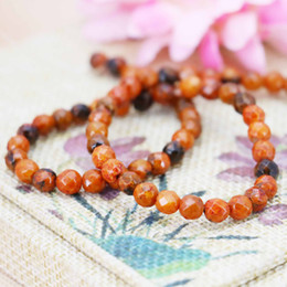 Wholesale Orange Crystal Faceted - Hot sale Orange Faceted Jasper beads Round DIY stones 15inch Jewelry making design Faceted Girls Gifts