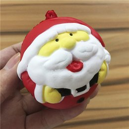 Wholesale Wholesale Santa Claus - 2017 Christmas Squishy Toys for Kids Finger Doll Puppets 2 Style Santa Claus Snow Man Cute Toy Christmas Gift with Package STS02
