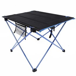 Wholesale Outdoor Aluminium Chair - Portable Foldable Table Aluminium Alloy Ultralight Camping Outdoor Beach Sunbath Picnic Tailgating BBQ Dinner Party Fold Chair