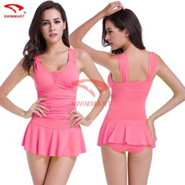 0dc02ccb951e7 New Skirt suits conjoined Cover the belly show thin Collect waist together Hot  spring bathing suit Conservative conjoined sexy swimsuit from dropshipping  ...