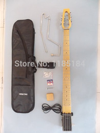 Wholesale Travel Electric Guitars - Wholesale- Free shipping MiniStar Bassstar 5strings Travel Guitar Built in Headphone Amp electric guitar including bag