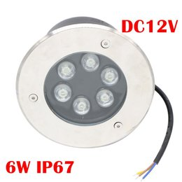 Wholesale 6w Blue Led - 6W Led RGB Underground Light Deck Lamp Outdoor IP67 Buried Recessed Floor Lights Warm Cold White Red Blue Green