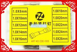 pinos de pressão grossistas Desconto Atacado- Frete Grátis 100 Pcs 1.0mm de Aço Inoxidável Prata Push Pull Estilo Primavera Bar Pin Tamanho de 8 ~ 26mm