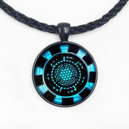 Wholesale Arc Link - US Movie Iron Man Arc Reactor Necklace Tony Stark Hero 1pcs bronze or silver chain Pendant Avengers Age of Ultron jewelry dr who