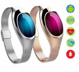 Z18 android online-Z18 mujeres moda elegante reloj pulsera banda de muñeca con presión arterial ritmo cardíaco Fitness Monitor podómetro para Android IOS