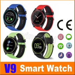 Wholesale Kids Outdoor Building - V9 Bluetooth Smart Watch Smartwatch Built-in SIM Card Slot Call Sync Smart Sports Band With pedometer For Android Devices With Package