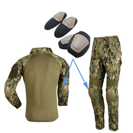 Wholesale Paintball Knee - Outdoor Sports Army Hunting Paintball Shooting Camo Gear Protective Airsoft Kneepads Tactical Elbow & Knee Pads for BDU SO05-009