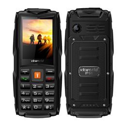 "Wholesale Bluetooth Flashlight - Vkworld Stone V3 Rugged Older Daily IP68 Shockproof phone IP68 Flashlight Power Bank 2.4"" 3000mAh Three SIM mobile phone"