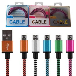 Wholesale Smartphone Retail Box - Usb cables colorful micro usb Charging Type C Cable nylon High Speed charging cable for Android SmartPhone with retail box