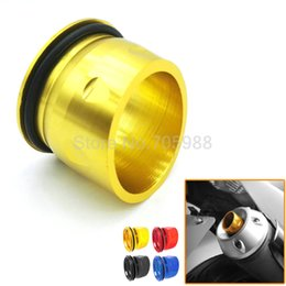 Wholesale Muffler Tail - High quality Motocross Motorcycle TMAX Part Muffler Tail Ends CNC Aluminum Exhaust Tip Cover For Yamaha T-max 530 2012-2015