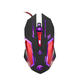 Wholesale Moving Buttons - Professional H500 USB Wired Quick Moving LED Light Ergonomic Gaming Mouse 3200dpi Game Peripherals with 6 Buttons