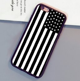 Wholesale Iphone 4s Back Cover Flag - Black & White Americana Flag Pattern Mobile Phone Cases For iPhone 6 6S Plus 7 7 Plus 5 5S 5C SE 4S Back Cover