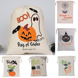 Wholesale Pumpkin Food - Halloween Christmas Gifts Bags Pumpkin Shopping Bags Festival Gifts Bag Halloween Canvas Bag 9 Style Eco Bags 36*44CM XL-G226