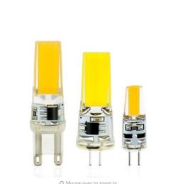 Wholesale G4 Led Dim - LED G4 Lamp Bulb AC DC 12V 220V Dimming 6W 9W COB SMD LED Lighting Lights replace Halogen Spotlight Chandelier