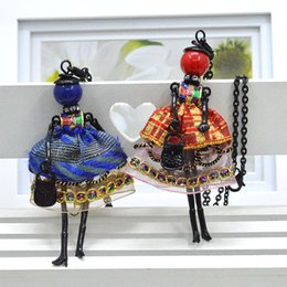 Wholesale Doll Necklaces - Newest arrival fashion doll Necklace Jewelry sales lovely dress doll pendant accessory women necklace wholesale Christmas gift
