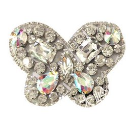 Wholesale Diy Rhinstone - Free shipping The new DIY diamond rhinstone butterfly claw chain shoes flower shoes accessories