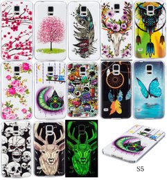 Wholesale Skin Back Cover Luminous Glow - Fashion Design Luminous Glow in the darkness Soft Silicone IMD TPU Case For Samsung Galaxy S5 i9600 Fundas Back Cover Skin Phone cases