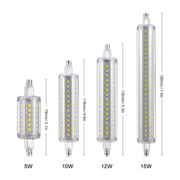 Wholesale Led Flood Lamp Bulbs - Wholesale-R7S LED corn lamp Lamparas 5W 10W 12W 15W 85-265V 220V 110V LED flood Light SMD 2835 78mm 118mm 135mm 189mm Bulb For floodlight