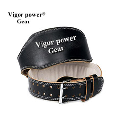 Wholesale Fitness Equipment Women - Wholesale- Genuine leather top qulity fitness gym weightlifting belt widening male Women fitness belt weight lifting wrist straps equipment