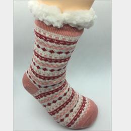 Wholesale Acrylic Floors - Long socks made of lamb 6 colors available Slot non-slip flooring socks Wool carpet socks Inside velvet thickening free shipping