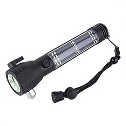 Wholesale Multi Led Usb Flashlight - USB Rechargeable Flashlight High-Powered Tactical Led Flash Light Torch, Water Resistant Handheld Flashlight 7 Modes Multi-functional