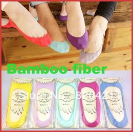 Wholesale Calcetines Bamboo - Wholesale- 20PCS= 10pairs New arrival female socks female invisible sock slippers thin bamboo fibre meia calcetines