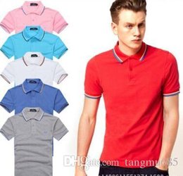 Wholesale Xxl Mens Luxury Casual Shirts - 983 Luxury Mens Mon polo Brand British t shirt Summer short sleeve tshirt marque luxe homme Franch men Costume Clothing m-xxl size