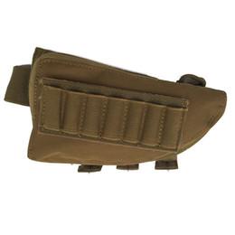 Wholesale Rifle Ammo Holder - Tactical rifle shotgun buttstock cheek rest rifle stock ammo shell nylon magazine molle pouch holder hoslter