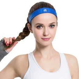 Wholesale Sports Cloth Headbands Wholesale - Wholesale-Womens Sports Yoga Headbands Nylon Cloth Fabric Hair bands headband Elastic Sweat Absorbing Gym Running Women Hair Accessory