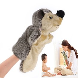 Wholesale Baby Hedgehogs - Wholesale- Hand Finger Puppet Toys Cartoon Animal Plush Hedgehog Doll Gift For Baby Kids