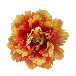 Wholesale Large Peony Flowers - 40cm Diameter Extra Large Artificial Silk Peony Flower Branch Dance Performance Stage Props Free Shipping ZA4206