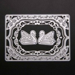 Wholesale Craft Card Designs - 1 Set Swan Design Cutting Dies Stencils for DIY Scrapbooking Decorative Craft Album Embossing Handmade Metal Paper Cards
