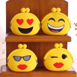 Wholesale Smile Wallet - Wholesale- New Fashion 2016 Emoji Smile Hasp Silicone Coin Purse Kawaii Children Bag Women Wallets Mini Change Pouch Bolsa 4 Colors