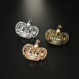 Wholesale Simple Crown Wedding - Simple Wild Crown Brooches Collar Palace Retro High Fashionable Crown Cross Chest Brooch