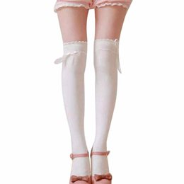 Wholesale Womens Hosiery Thigh High - Wholesale-JECKSION Womens Over the Knee Girls Sexy Cotton High Thigh High Hosiery Stockings #LYW
