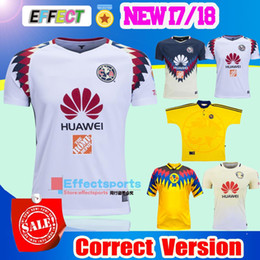 Wholesale Top Quality Jerseys - TOP Quality 2016 2017 LIGA MX Club America soccer Jerseys 100 years home away Third Black Centenario Pink 17 18 SAMBUEZA football shirt