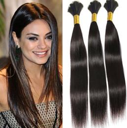 Wholesale Cheap Braided Hair Extensions - 8A Braid Hair Peruvian Human Hair Bulk For Braids Cheap Straight Hair Extensions 100g pcs 3 Bundles Bulk No Weft