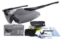 Wholesale Ice Goggles - ESS ICE Military Goggles 3 Lens Ballistic Army Sunglasses