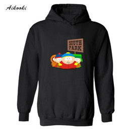 Wholesale Sweatshirt Hoodies Funny - Wholesale- 2017 hot sale American Sitcoms South Park Hooded Punk Hoodie Men in Eric Cartman Funny Mens Hoodies and Sweatshirts Streetswear