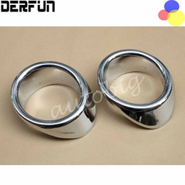Wholesale Fiat Dodge - FOR Dodge Journey Fiat Freemont 2013 - 2015 Chrome Front Fog Light Lamp Cover Trim Decorative ring